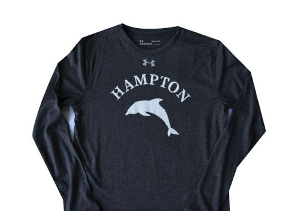 Hampton L/S youth - Gray w/ white