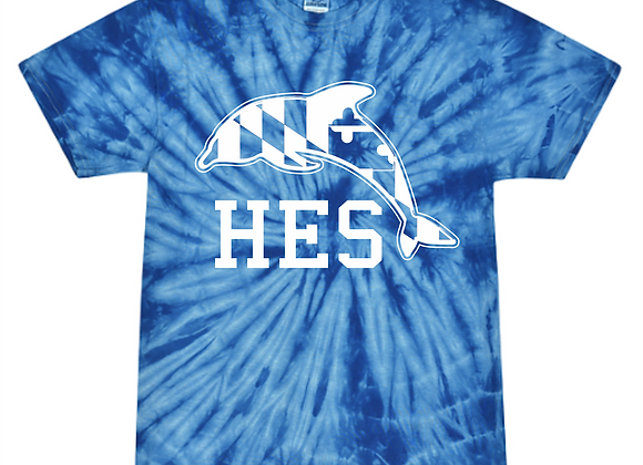 Youth HES Tie Dye Shirt - Royal