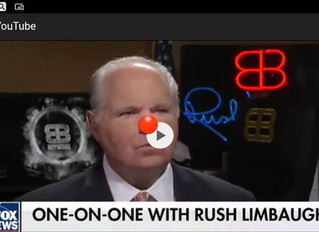 """""""Where are the feminists?"""" brayed Rush Limbaugh with glee!"""