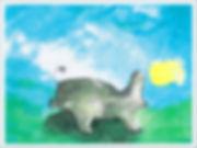 Hippopotamus Chasing A Dream-watercolor