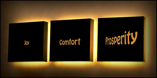 Three Wishes For Joy, Comfort, And Prosp