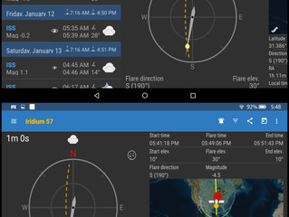 my app alerts for ISS Detector and Iridium 57