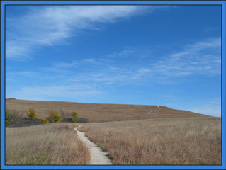 hiking the Konza Tallgrass Prairie in the Flint Hills of northeastern Kansas
