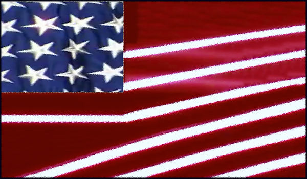 American Flag Abstracted by Annmarie Thr