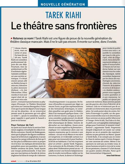 Actuel Magazine - Article Dorian Shine
