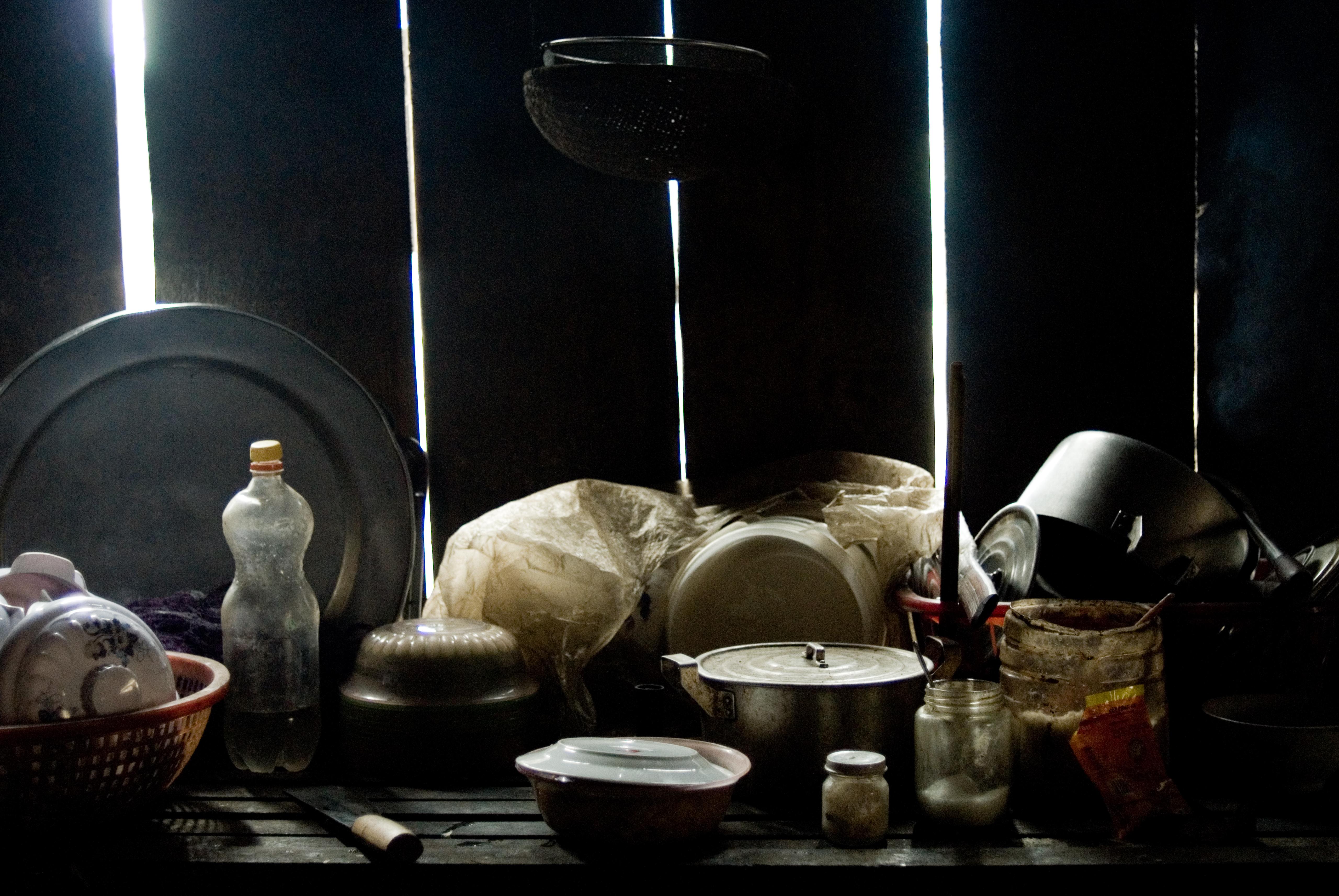Rustic vietnamese kitchen
