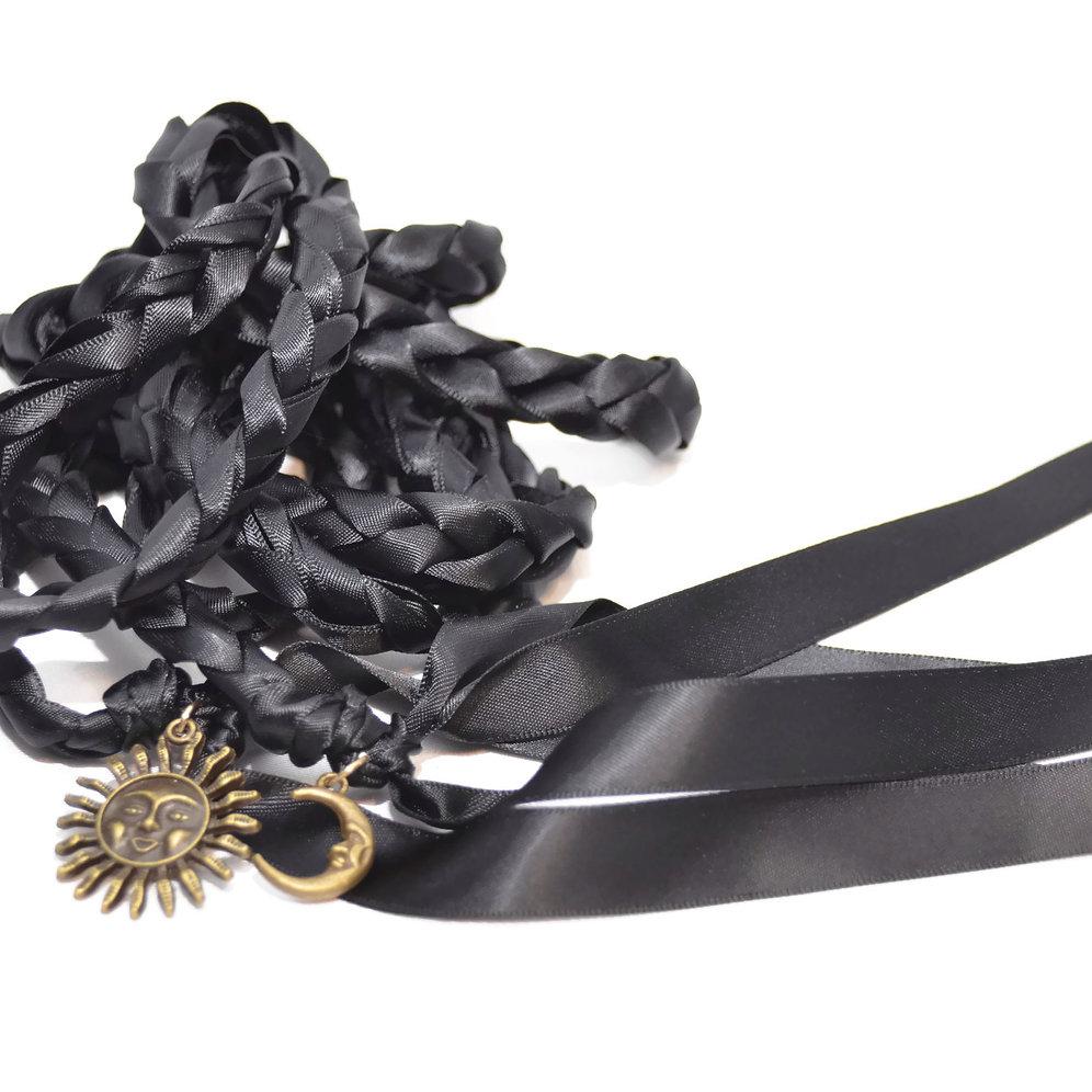 Black Sun & Moon Wedding Handfasting Cord #DivinityBraid