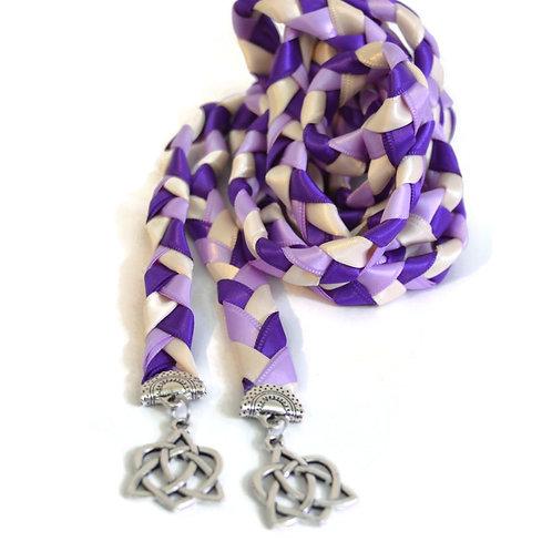 Lilac Purple Celtic Heart Knot v4 Wedding Handfasting Cord #Wedding #Handfasting