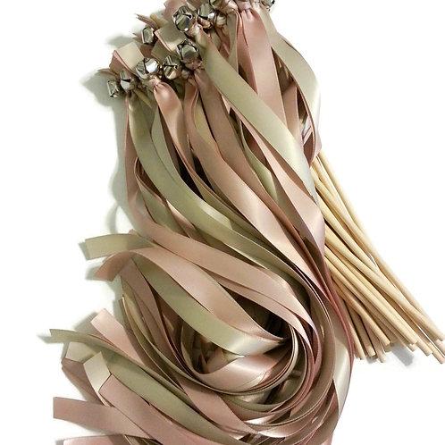 100 Ribbon Bell Wands Biscotti & Ballet #WeddingWands