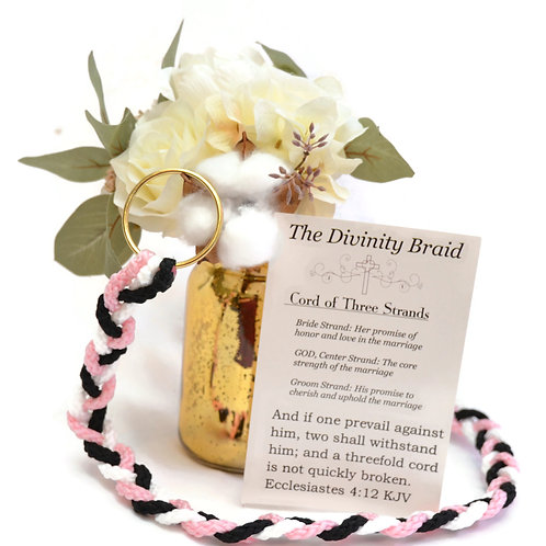 Divinity Braid Cord of Three Strands Dramatic  Tickled Pink #Wedding
