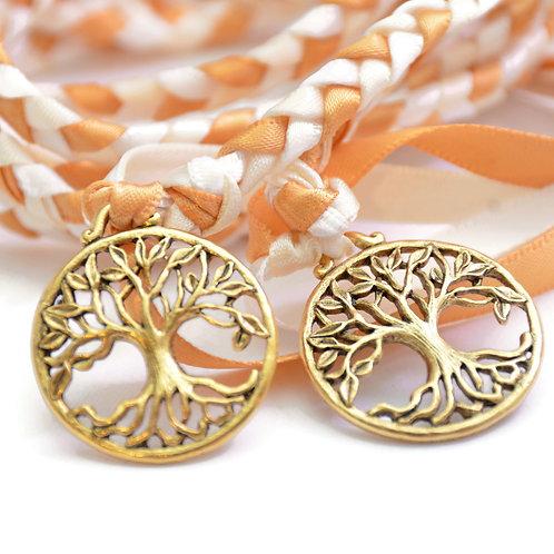 Golden Ivory Elvish Tree of Life Wedding Handfasting 6ft Cord #Wedding