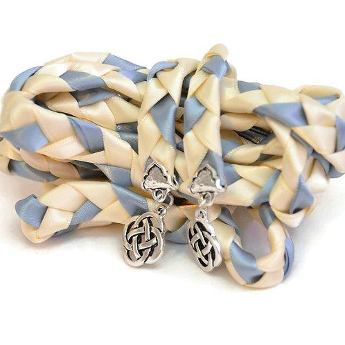 Ivory Steel Celtic Knot Wedding Handfasting Cord #DivinityBraid #Celtic