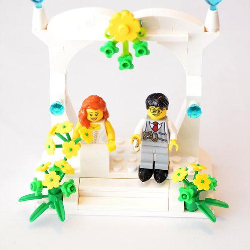 Custom Lego Wedding Cake Topper #Lego #LegoCakeTopper #LegoFavor