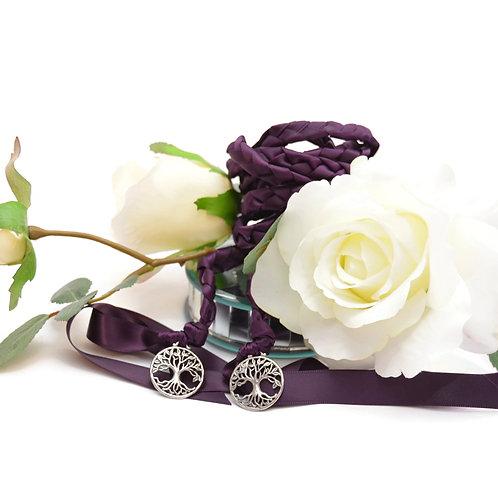 Silver Eggplant Plum Elvish Tree Of Life Handfasting Cord #Wedding #Handfasting