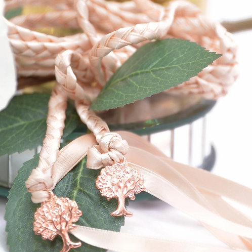 Rose Gold Blush Champagne Tree of Life Handfasting Cord #Wedding