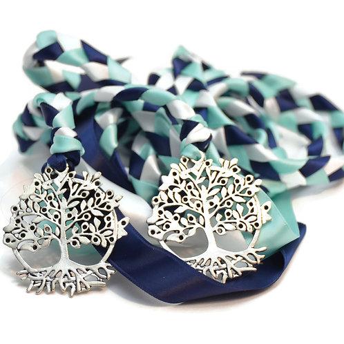 Navy Mint Beltane Tree Of Life 6ft Wedding Handfasting Cord #Wedding #Beltane