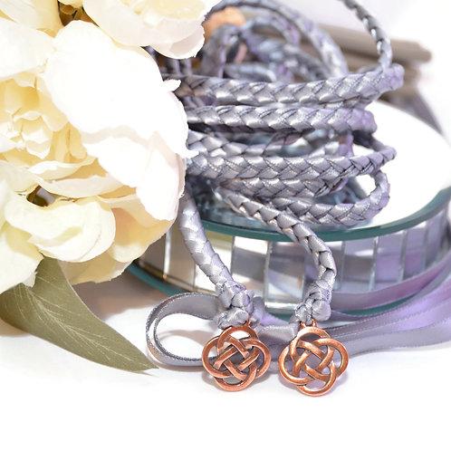 Gunmetal Gray Copper Celtic Knot Wedding Handfasting Cord #Wedding #Handfasting