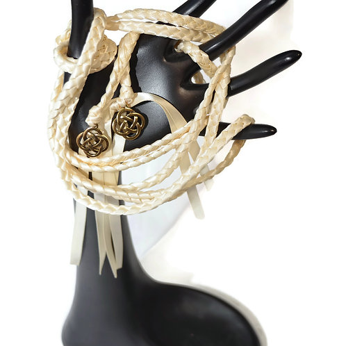 Ivory Brass Celtic Knot Wedding Handfasting Cord #Wedding #Handfasting