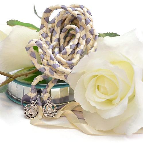 Scottish Thistle Celtic Wedding Handfasting V2 Cord #DivinityBraid #Celtic