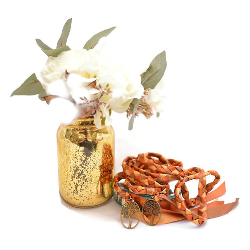 Limited Edition Autumn Harvest Tree of Life Wedding Handfasting Cord #We