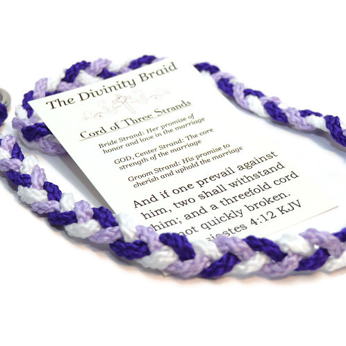 Divinity Braid Purple Theme Three Strands #DivinityBraid #Wedding