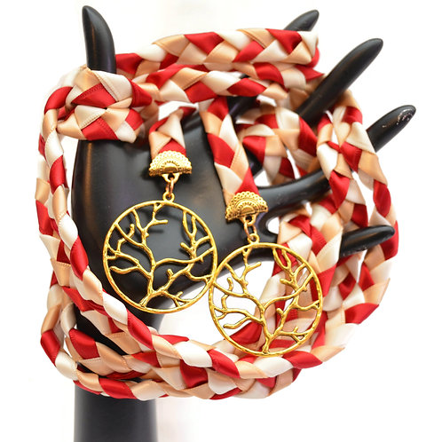 Red Vintage Gold Tree of Life Wedding Handfasting 6ft Cord #Wedding