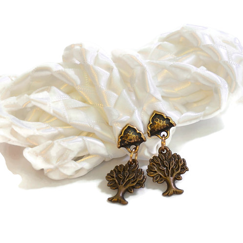 White Antique Gold Purification Tree Of Life Wedding Handfasting V4 Cord