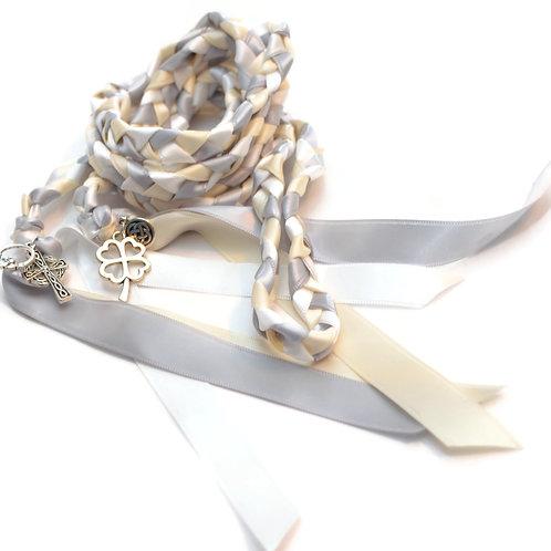 Celtic 4 charm Silver Ivory Wedding Handfasting 6ft Cord #Wedding #Handfasting