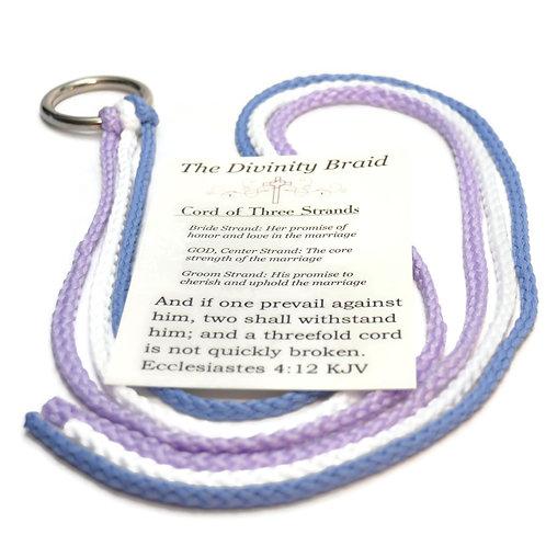 Lavender Dusty Blue Divinity Braid Cord of Three Strands #Wedding #CordofThree