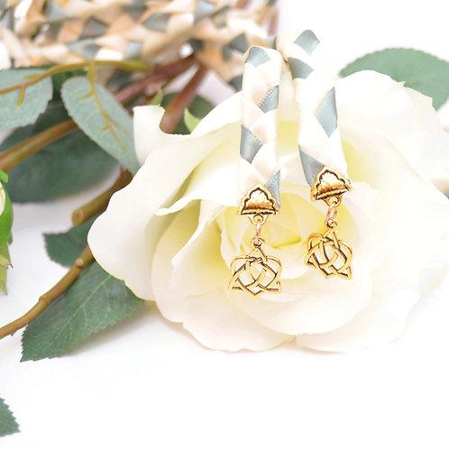 Woodland Ivory Sage Celtic Heart Knot Wedding Handfasting Cord #Handfasting