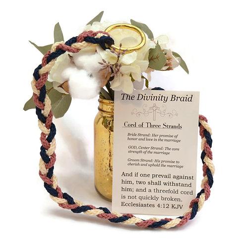 Divinity Braid Cord of Three Strands Rose Navy #Wedding #CordofThree
