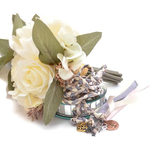 Divinity Braid 4 Charm Celtic  V2 Wedding Handfasting 6ft Cord #Wedding