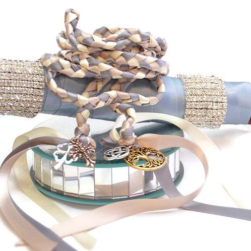 Divinity Braid 4 Charm Celtic Wedding Handfasting 6ft Cord #Wedding #Handfasting