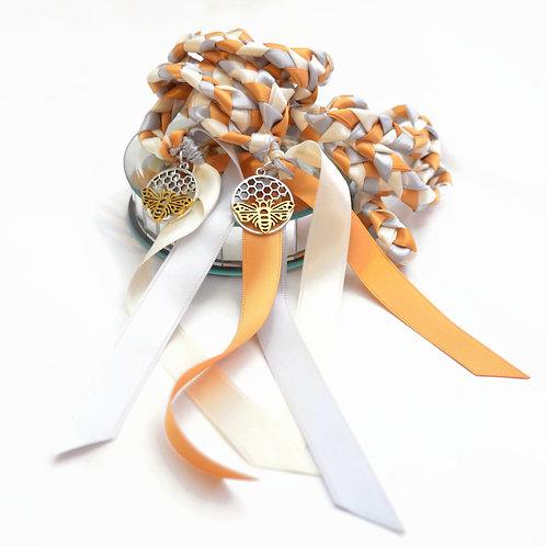 Divinity Braid Bee Sweet Wedding Handfasting Cord #Wedding #Handfasting #Bees