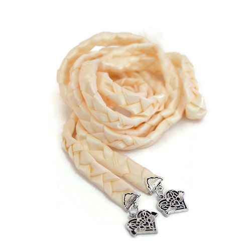 Ivory Copper Celtic Promise Claddagh V4 Wedding Handfasting Cord #DivinityBraid