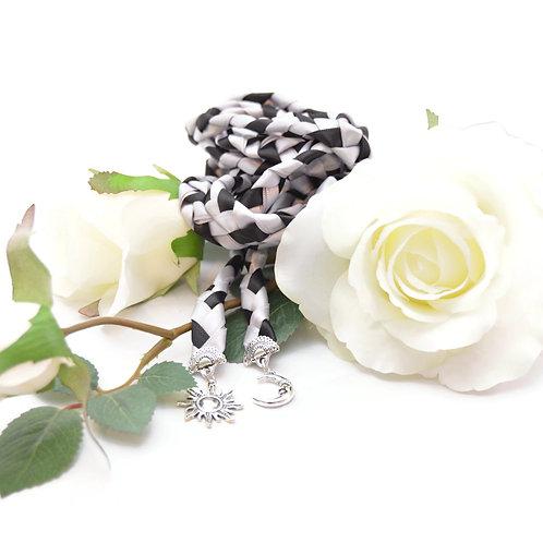 Silver Sun & Moon Wedding Handfasting Cord #DivinityBraid #Handfasting #Pagan
