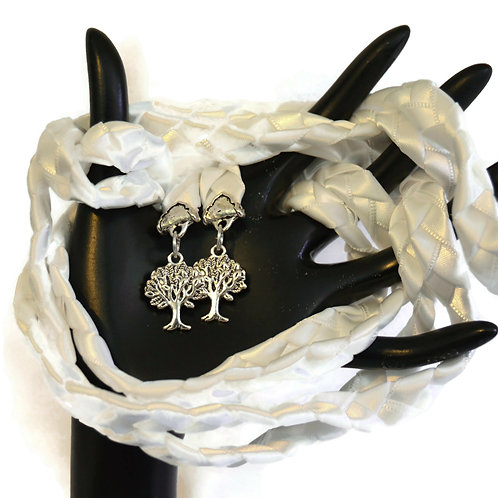 White Silver Purification Tree Of Life Handfasting V4 Cord