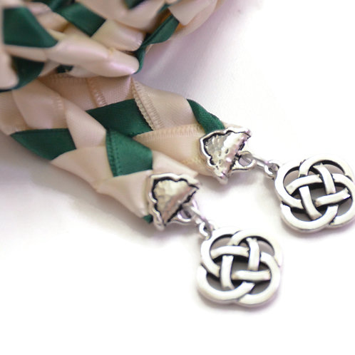 Ivory Forest Hunter Celtic Copper Knot Wedding Handfasting Cord
