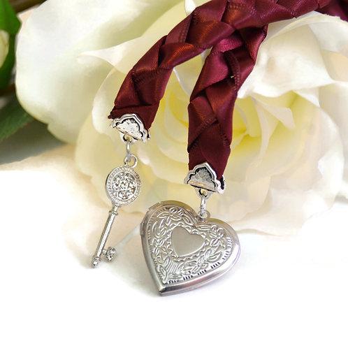 Burgundy Key to Love Handfasting Cord #Wedding #Handfasting #KeyToLove