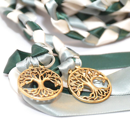 Forest Sage Gold Elvish Tree of Life Wedding Handfasting 6ft Cord #Wedding