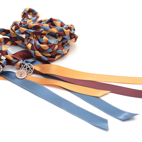 True Blue & Burgundy Wedding Handfasting 6ft Cord #Wedding #HandfastingCord