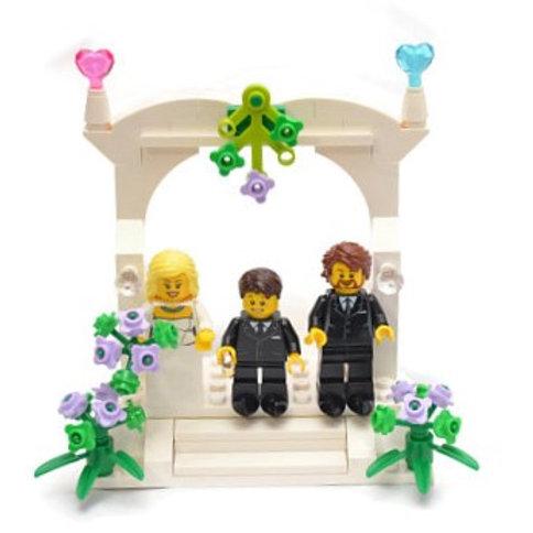 Custom Lego Family Wedding Cake Topper #Lego #LegoCakeTopper #LegoFavor