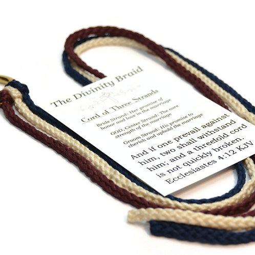 Divinity Braid Burgundy Navy Cord of 3 Strands  #DivinityBraid #Wedding #Cordof3