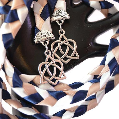 Navy Blush Celtic Heart Knot v4 Wedding Handfasting Cord #Wedding #Hand