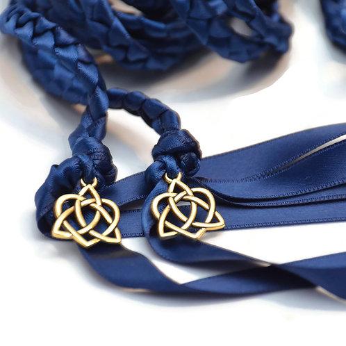 Navy Gold Celtic Hear Wedding Handfasting Cord #Wedding #Hand