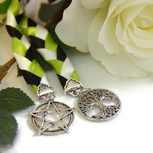 Divinity Braid Tree Of Life &  Pentagram  Charm Wedding Handfast