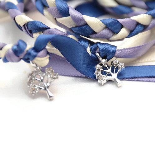 Elegant Hyacinth Rhinestone Tree of Life Wedding Handfasting Cord #Handfasting