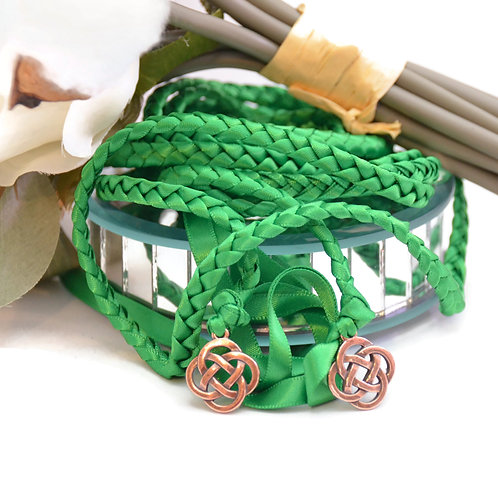 Emerald Copper Celtic Knot Wedding Handfasting Cord #Wedding #Handfasting