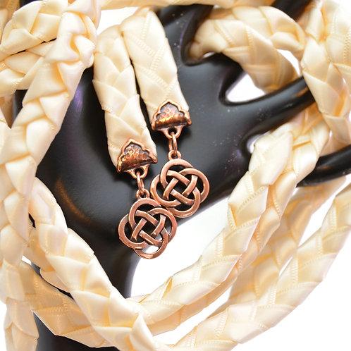 Ivory Celtic Copper Knot Wedding Handfasting Cord #handfasting #Celtic #Wedding