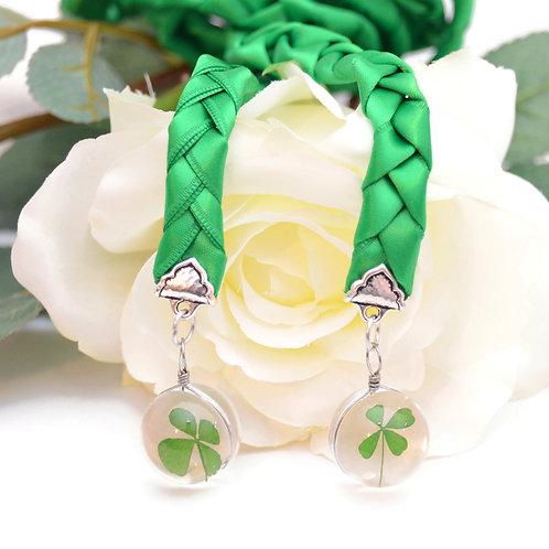 Limited Edition Emerald 4 Leaf Clover Celtic Knot Wedding Handfasting Cord
